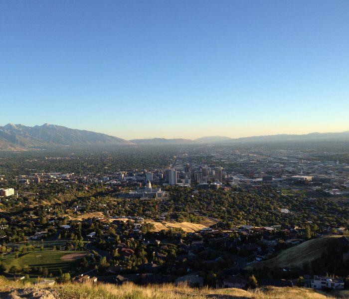 Salt Lake City and Great Salt Lake, Utah