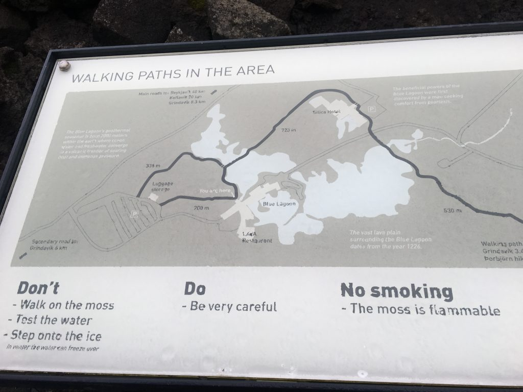Map of walking paths at Blue Lagoon