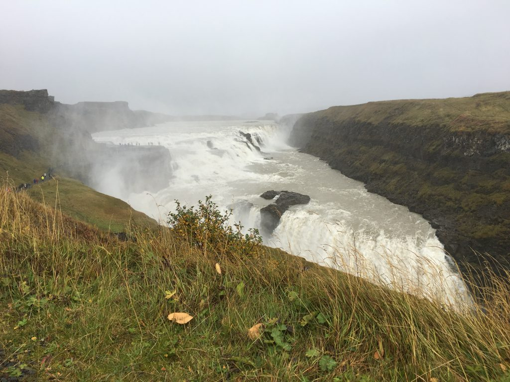 Gulfoss Waterfall in Iceland.